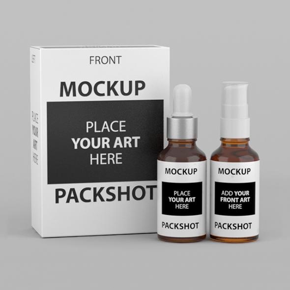 Box Mockup Packaging Packshot - 3DOcean Item for Sale