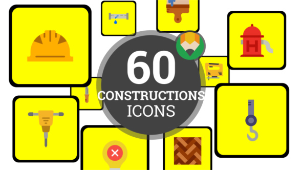 Architecture Plan Project - Flat Animated Icons and Elements