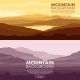 Set of Mountain Landscapes