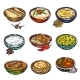 Indian Food Icon Set