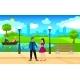 Light City Park Landscape Romantic Template
