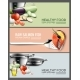 Realistic Cooking Elements Horizontal Banners