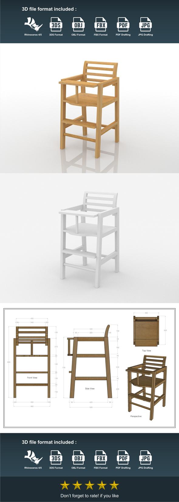 3DOcean Baby High Chair 20170408