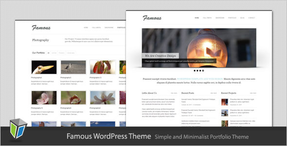 Famous - Simple and Minimalist Wordpress Theme