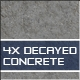 Decayed Concrete Textures - 3DOcean Item for Sale