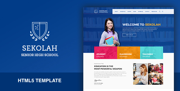 Sekolah - Senior High School HTML5 Template