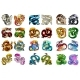 Set of 24 Colored Asian Dragons