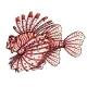 Lionfish on a White Background