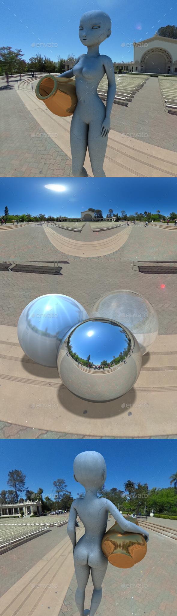 San Diego Balboa Park Pavillion HDRI