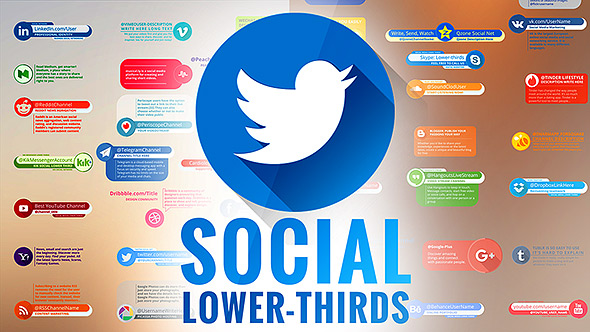 VideoHive Social Lower Thirds 20174435