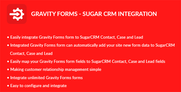 Gravity Forms – Sugar CRM Integration (Forms) images
