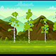 Forest and Stones 2D Game Landscape
