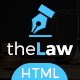 Responsive Website Template Law Firm - One Page