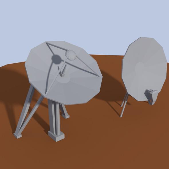3DOcean Low Poly Antenna Dish 20174974