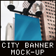 Vertical City Banner Mock-Up