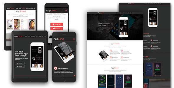 AppLand – Responsive App Template (Application)