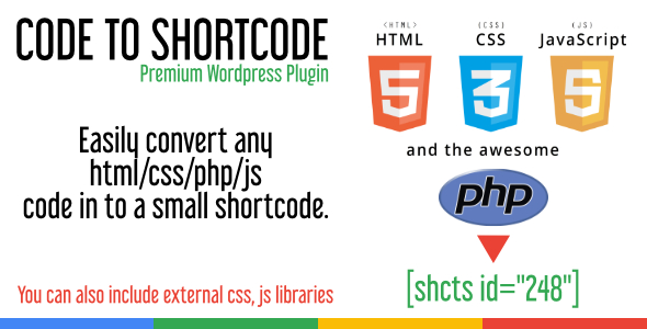 Code to Shortcode - CodeCanyon Item for Sale