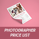Photographer Pricing Guide