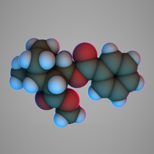 3DOcean Cocaine molecule 20175638