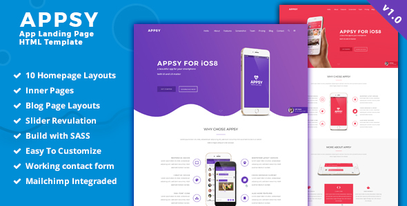 APPSY - Landing page HTML Template