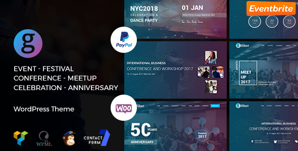 G-Event – Conference / Meetup / Celebration Event WordPress Theme (Events) images