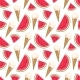 Seamless Pattern with Ice Cream and Watermelon.