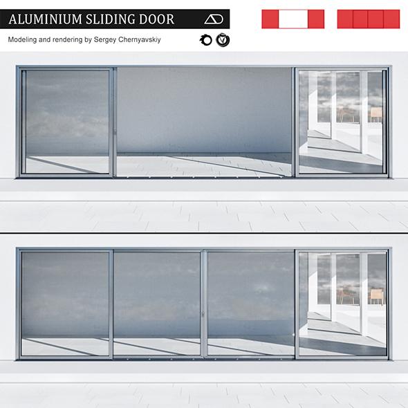 3DOcean Aluminium sliding door 20176386