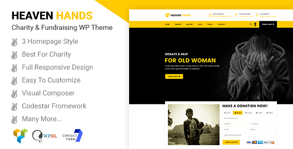Heaven Hands- Responsive Charity & Fundraising WordPress Theme (Charity) images