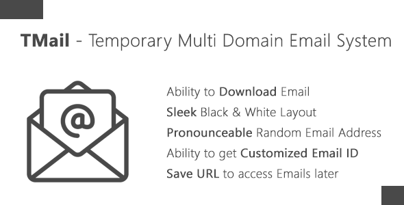 TMail – Multi Domain Temporary Email System (PHP Scripts) images