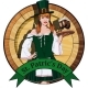 Irish Waitress with Beer Label