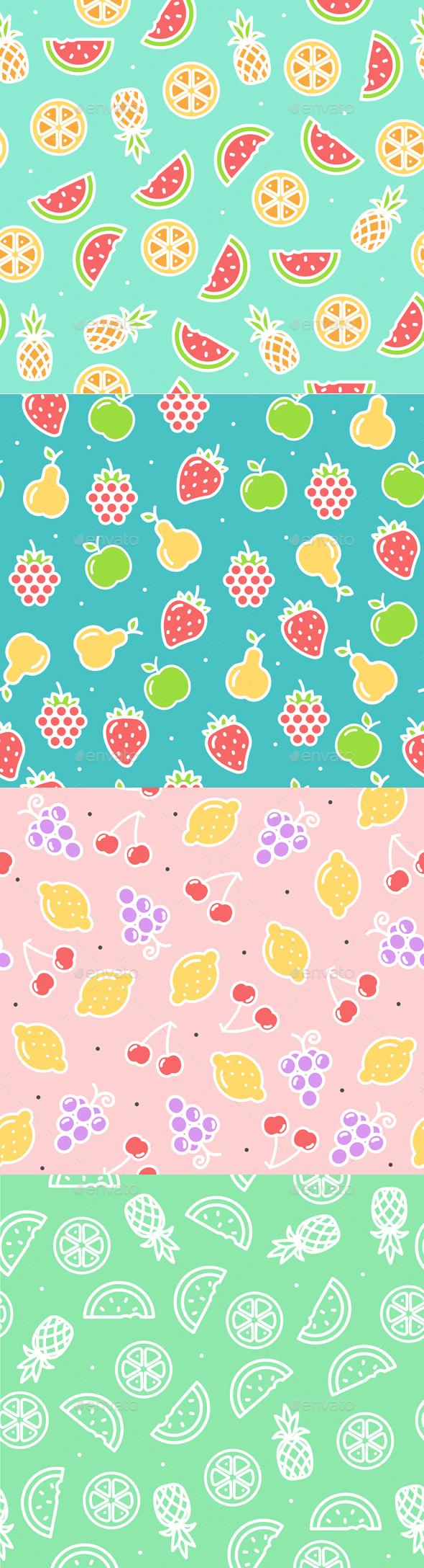 Fruit Background Pattern. Vector