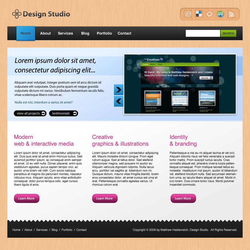 Business Style Portfolio Layout