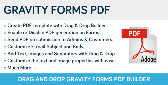 Gravity Forms PDF - CodeCanyon Item for Sale