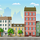 Seamless Cityscape Cartoon Background