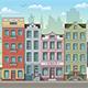 Seamless Cityscape Cartoon Background