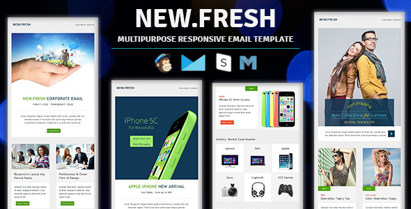 New.Fresh - Responsive email newsletter templates