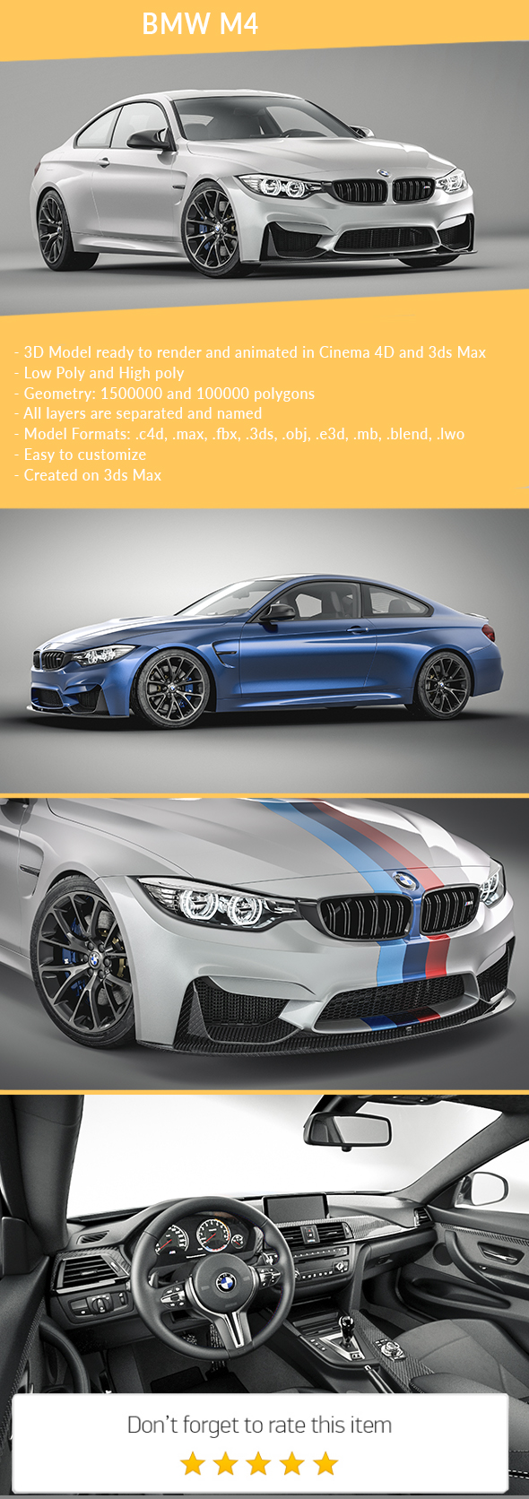 BMW M4 - 3DOcean Item for Sale