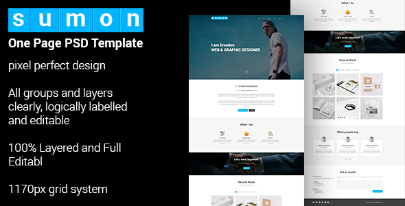 SUMON - Personal Portfolio Website Design
