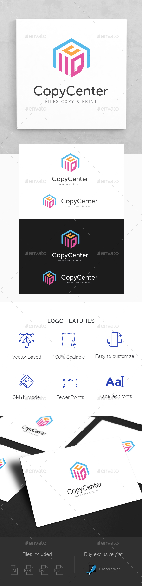 Files Copy & Print Center Logo Template