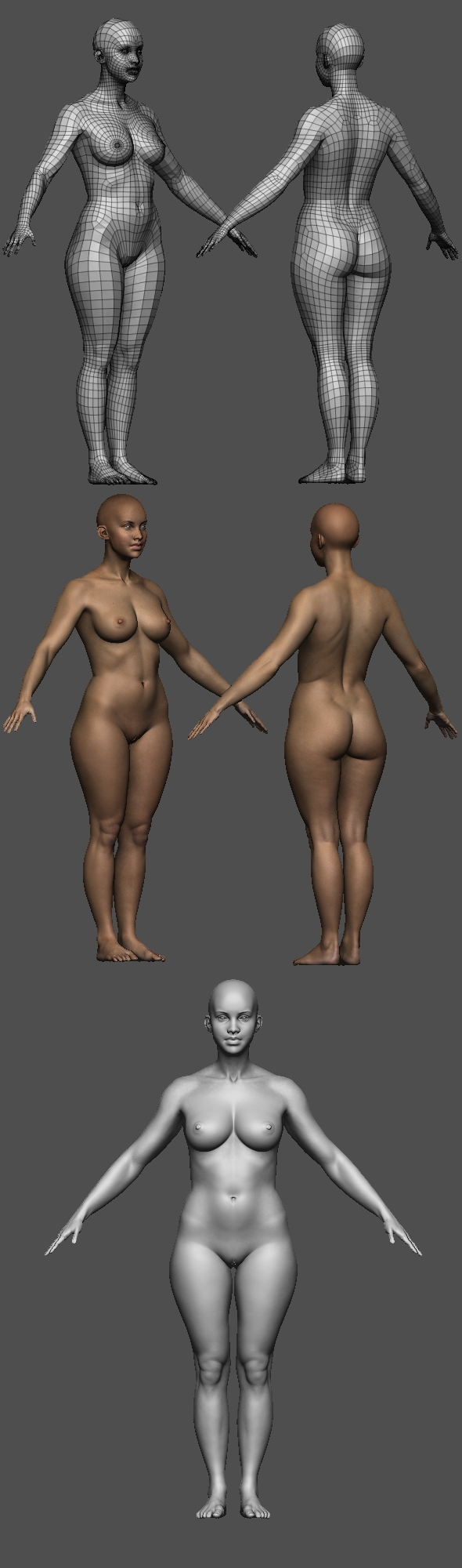 Realistic Female body - 3DOcean Item for Sale