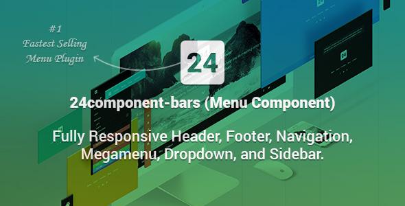 24component-bars - Fully Responsive Header, Footer, Navigation, Megamenu, Dropdown, and Sidebar - CodeCanyon Item for Sale