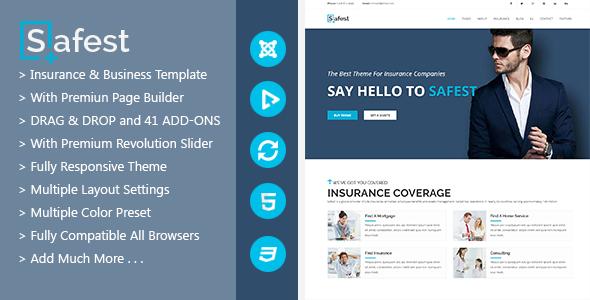 Safest - Insurance Agency & Business Joomla Template
