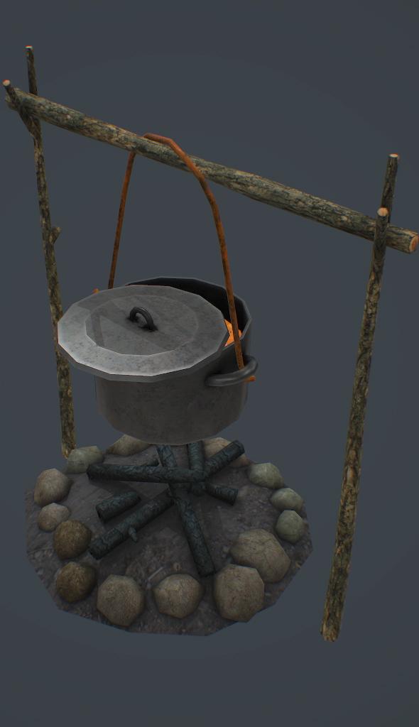 Campfire 3d model - 3DOcean Item for Sale