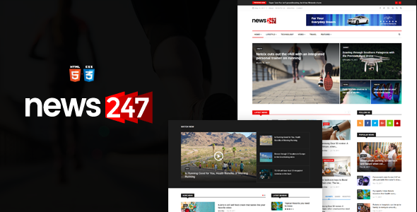 News247 - News Magazine HTML Template