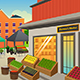 Farmers Market Background Illustration