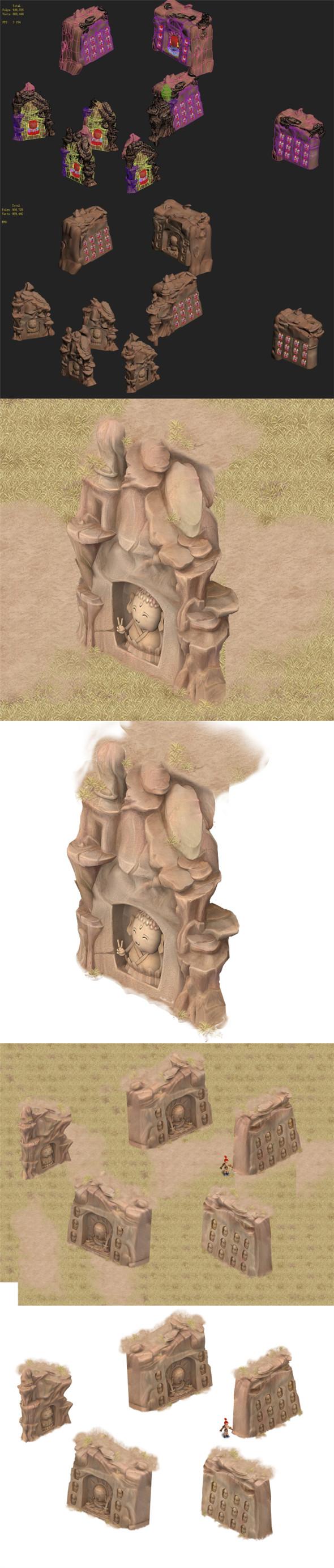 3DOcean Cartoon Edition Thousand Buddha Rocks 03 20182380