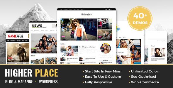Higher Place - Multi-Purpose Blog & Magazine WordPress Theme