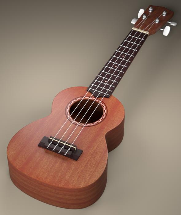 3DOcean Ukulele 3D model 20184274
