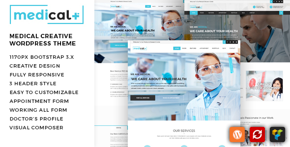Medical Plus – Health Care, Clinic WordPress Theme (Health & Beauty) images
