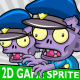 Zombie Police Game 2D Character Sprite